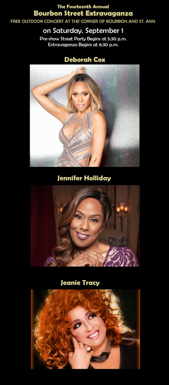 Deborah Cox, Jennifer Holliday and Jeanie Tracy at Southern Decadence