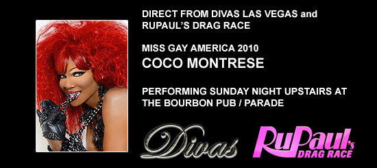 CoCo Montrese, Miss Gay America 2010, at Southern Decadence 2014