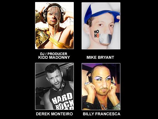 DJ / PRODUCER KIDD MADONNY, MIKE BRYANT, DEREK MONTEIRO AND BILLY FRANCESCA