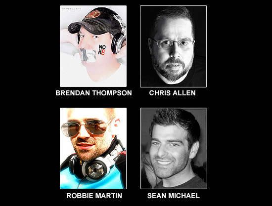 DJs BRENDAN THOMPSON, CHRIS ALLEN, ROBBIE MARTIN AND SEAN MICHAEL