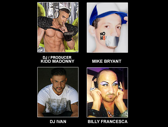 DJ / PRODUCER KIDD MADONNY, MIKE BRYANT, DJ IVAN AND BILLY FRANCESCA