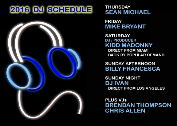 Southern Decadence 2015 DJ schedule