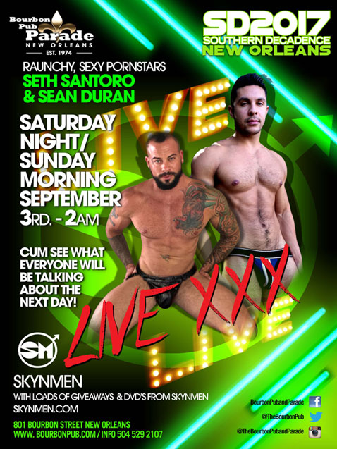 Seth Santoro and Sean Duran LIVE at THE BLACK PARTY for Southern Decadence 2017